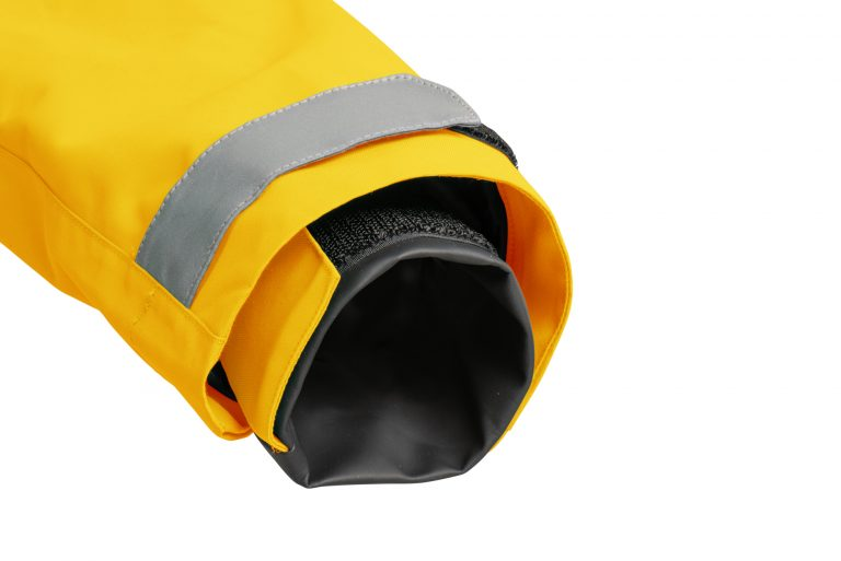 First Edition sailing jacket yellow cuff sleeve